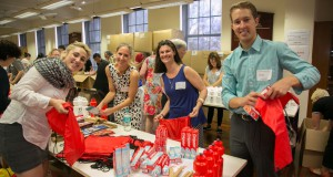 Volunteers packing oral health kits as part of Healthy Teeth. Credit: Stine Baska.